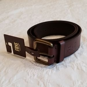 New Frye Brown Leather Belt size 36
